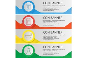 Medical lab banner templates set