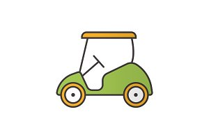 Golf cart color icon