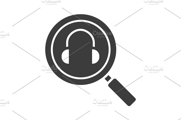 Online Music Search Glyph Icon