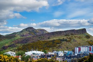 View for Holyrood Park from Calton Hill, Edinburgh,