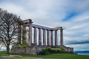 National Monument of Scotland, on Calton Hill in Edinburgh, Scot