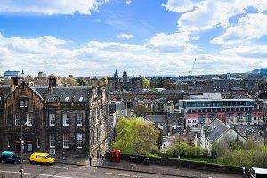 Street view in Edinburgh, Scotland