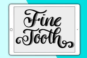 Fine Tooth Procreate brush