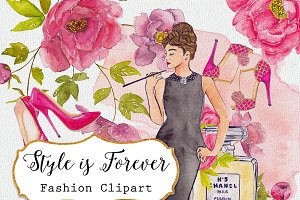 Watercolor Clipart. Style is Forever