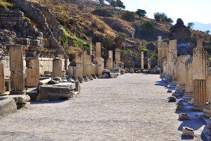 Ruins of ephesus in turkey