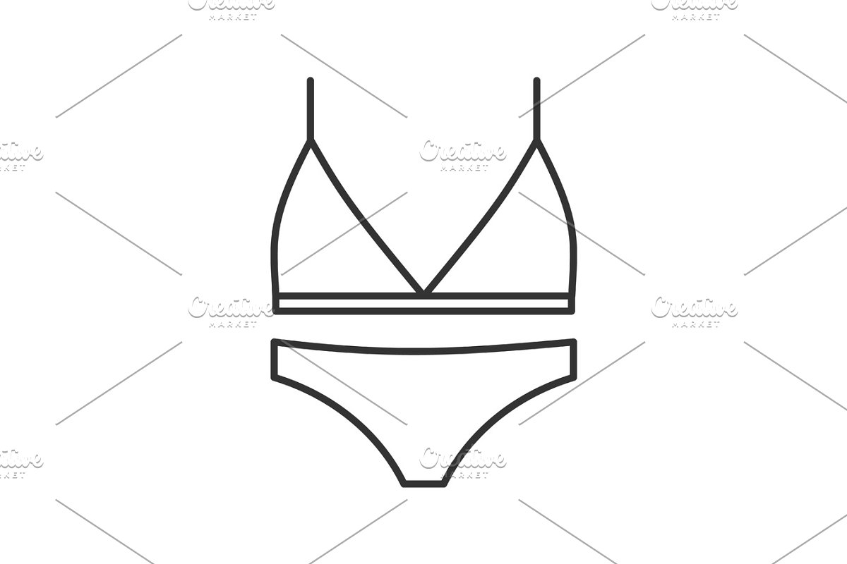 a8558beecb Women's underwear linear icon ~ Icons ~ Creative Market