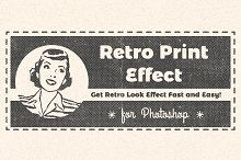 Retro Print Effect