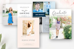 Senior Graduation PSD Template Set