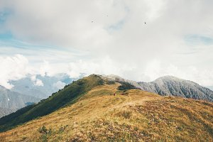 Foggy Mountains Landscape