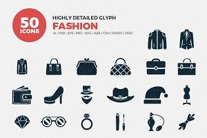 Glyph Icons Fashion Set