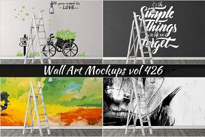 Wall Mockup - Sticker Mockup Vol 426