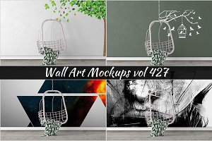 Wall Mockup - Sticker Mockup Vol 427