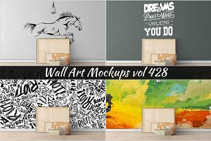 Wall Mockup - Sticker Mockup Vol 428