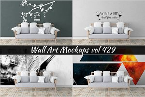 Wall Mockup - Sticker Mockup Vol 429