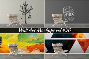 Wall Mockup - Sticker Mockup Vol 430