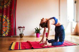 Girl doing Yoga 2