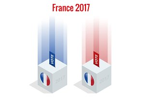 Presidential Election in France 2017, ballot box in front