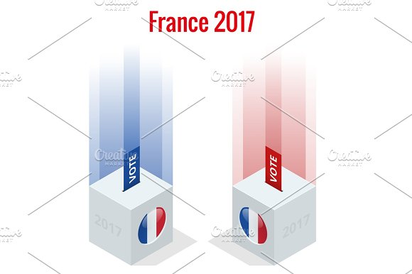 Presidential Election In France 2017 Ballot Box In Front