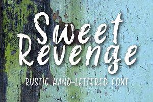 Sweet Revenge hand-lettered font