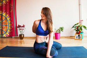 Young Woman doing Yoga 5