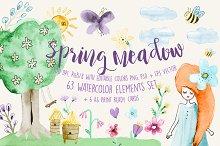 Spring Meadow Watercolor Set