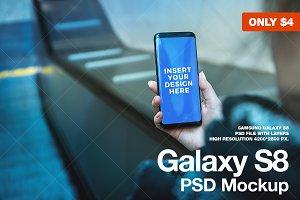 Android, Galaxy S8 PSD Mockup