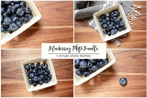Blueberries Stock Photo Bundle