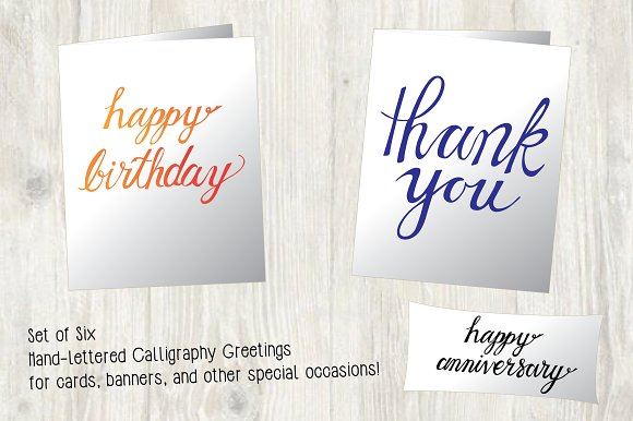 Hand-lettered Calligraphy Greetings