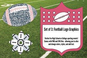 Girly Football Logo Graphics