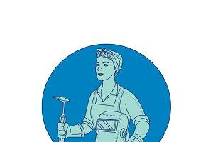 Female Welder Acetylene Welding