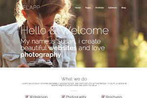 Flapp - Personal WordPress Theme
