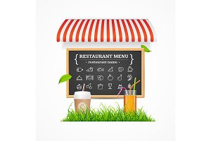 Cafe Restaurant  Menu Concept