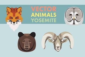 Vector Animals Yosemite