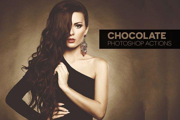10 Chocolate Photoshop Actions