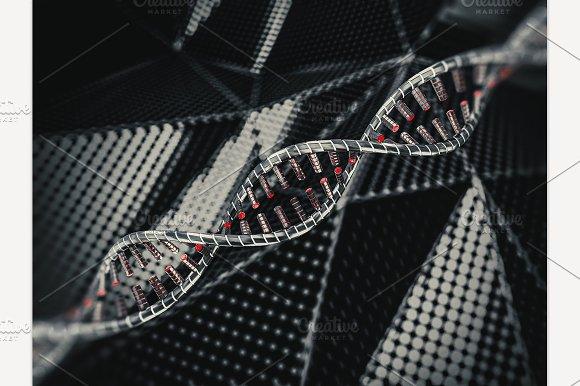 DNA Strands 3D Rendering