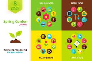Spring Garden Vector Concepts