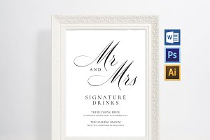 Signature Drink Sign Wpc78