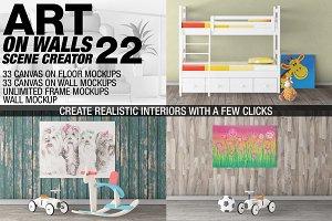 Canvas Mockups - Frames Mockups v 22