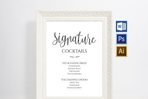 Signature Drink Sign Wpc80