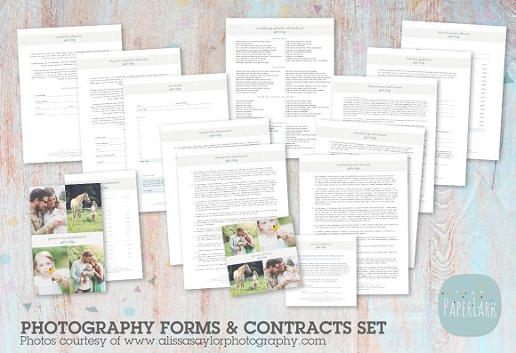 NG018 Photography Contracts Forms