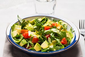 Healthy detox avocado salad