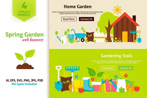 Spring Garden Website Banners