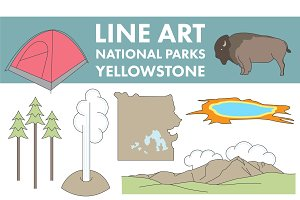 Line Art Yellowstone