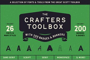 The Crafters Toolbox (Font bundle)
