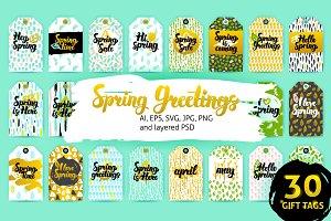 Spring Garden Gift Tags