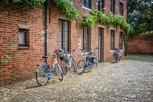 Bicycles in old city
