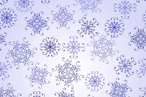 Vector Seamless Pattern with  Snowfl
