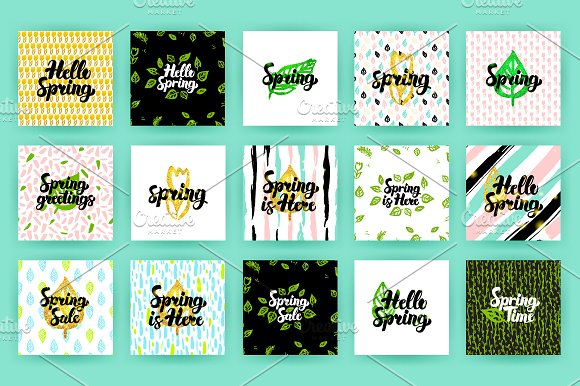 Spring Postcards in Postcard Templates - product preview 1