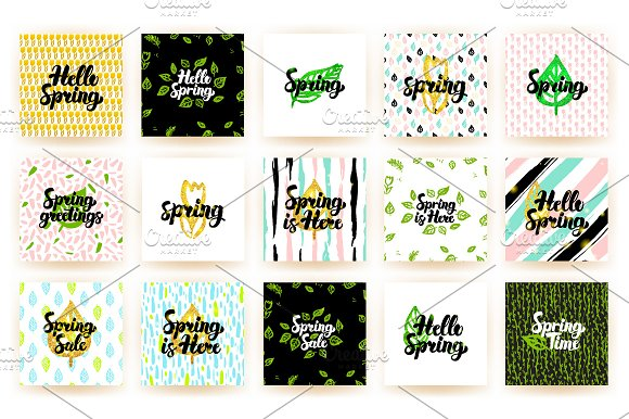 Spring Postcards in Postcard Templates - product preview 2