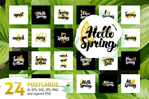Spring Lettering Posters